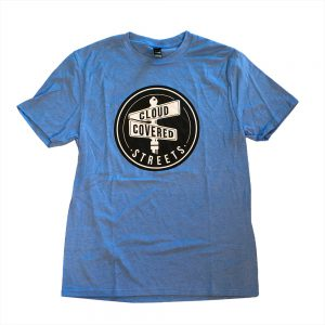 Blue Cloud Covered Streets Shirt